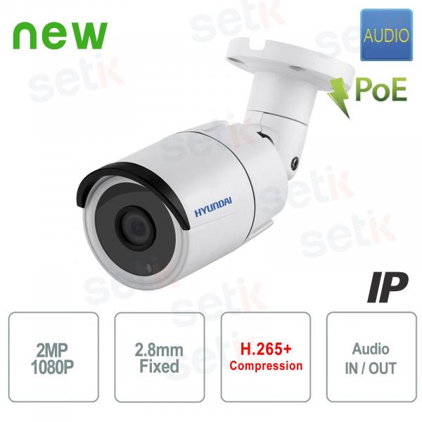 Telecamera IP ONVIF PoE da esterno Hyundai 2 MP IR Audio