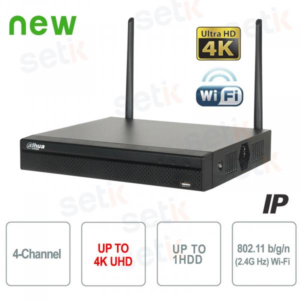NVR 4 Canali IP 8MP 4K 80Mbps WiFi H.265 P2P - Dahua