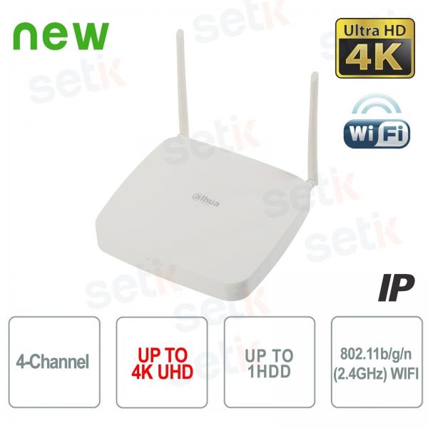 NVR 4 Canali IP WIFI Dahua 4K 8 MP 80Mbps H.265