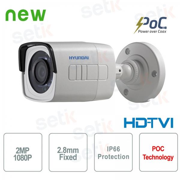 Hyundai PoC video surveillance camera 2 MP HDTVI Bullet 2.8 mm IR