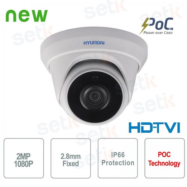 Hyundai PoC 2 MP HDTVI Dome 2.8 mm IR video surveillance camera