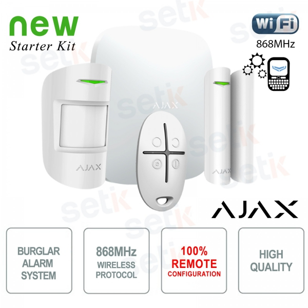 AJAX Kit di Allarme Professionale Wireless senza fili GPRS / Ethernet