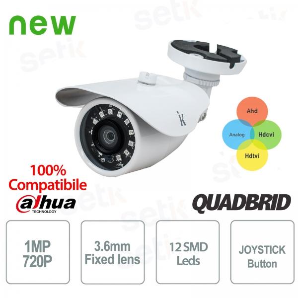 "Telecamera Videosorveglianza Ibrida 4in1 ""AHD+TVI+CVI+ANALOGICA"" 1MP 3.6mm - Eco Setik"