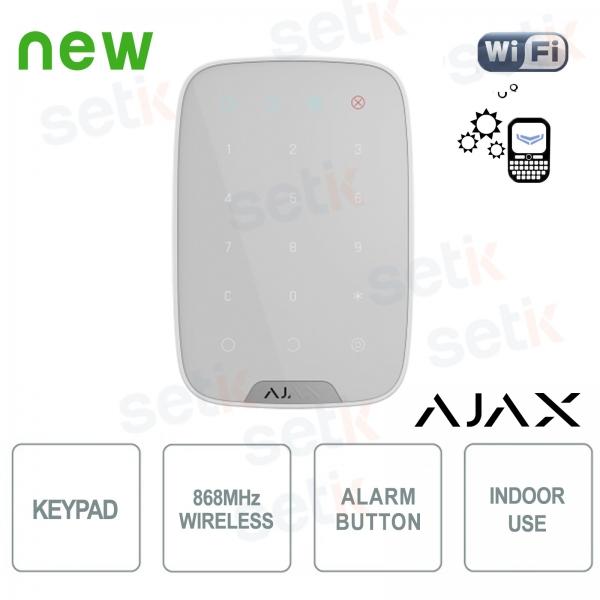 Ajax KeyPad Tastiera senza fili 868MHz a sfioramento
