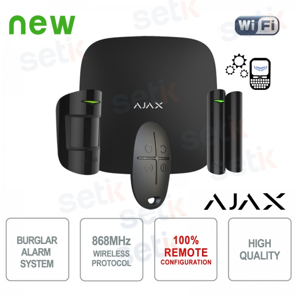AJAX Wireless Wireless Professional GPRS / Ethernet Black Alarm Kit