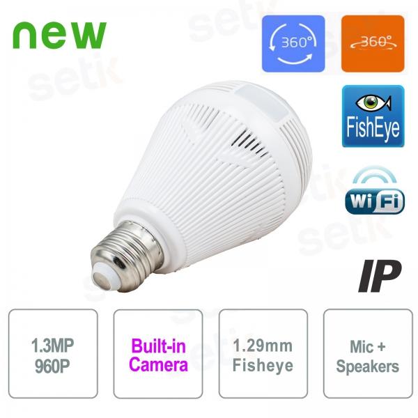 Telecamera IP WiFi Lampadina 960P IR Panoramica - Setik