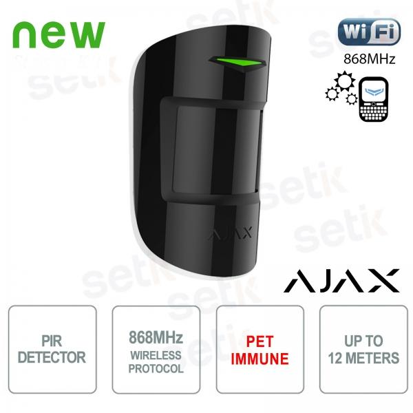 Ajax Rivelatore di Movimento PIR Pet Immune 868MHz Black Version