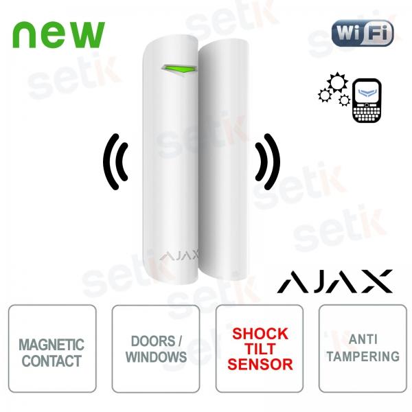 Ajax Contatto magnetico porta/finestra con rilevatore vibrazione/inclinazione 868Mhz