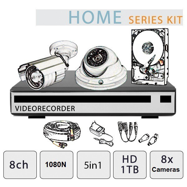 Video Surveillance Kit 8-Channel - Home Series