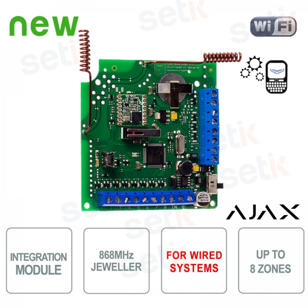 Ajax module for integrating WiFi sensors into wired systems