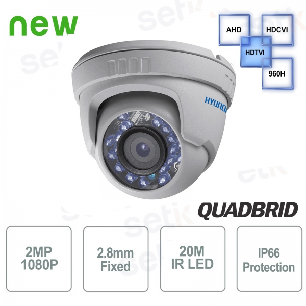 Hyundai 2 MP 4 in 1 Dome 2.8mm IR Video surveillance camera