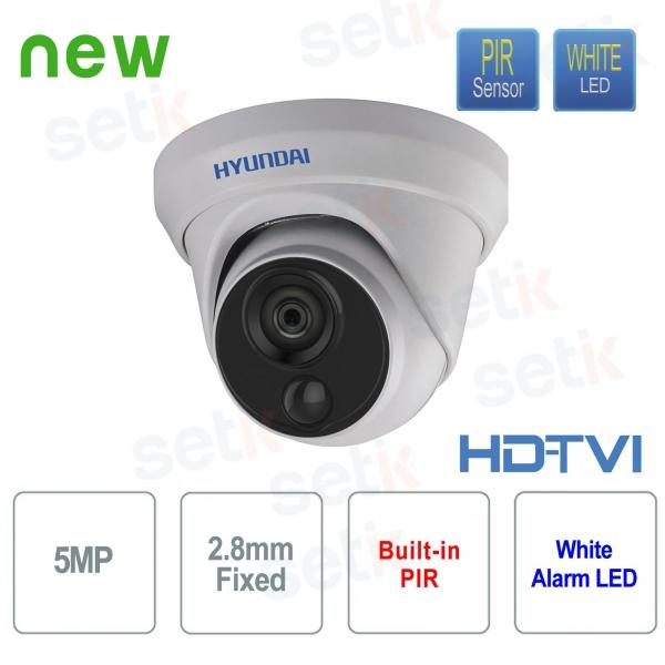 Telecamera Videosorveglianza Hyundai 5 MP HDTVI Dome 2.8 mm con PIR integrato