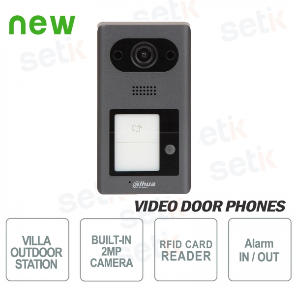 Dahua IP PoE video door phone 2 MP camera, 1 button and RFID re