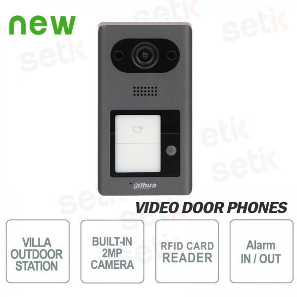 Dahua IP PoE video door phone 2 MP camera, 1 button and RFID reader