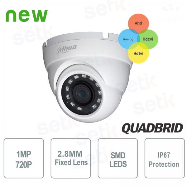 Dahua HD outdoor camera CVI 4 in 1 1MP IR 30 2.8 mm