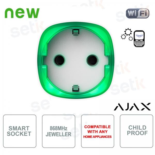 Ajax Socket Presa Wireless Intelligente Controllo Consumo Energetico