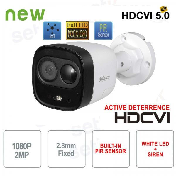 Dahua HD CVI 1080P PIR Active Deterrence outdoor camera 2.8mm
