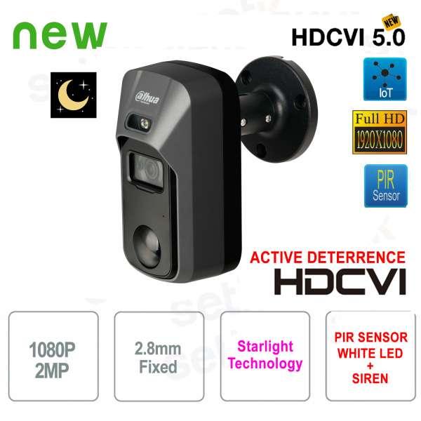 Dahua HD CVI 2MP 2.8mm PIR Active Deterrence Starlight camera
