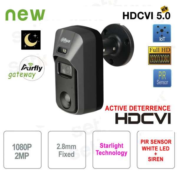 Dahua HD CVI 2MP 2.8mm PIR Active Deterrence Camera Starlight Gateway Airfly