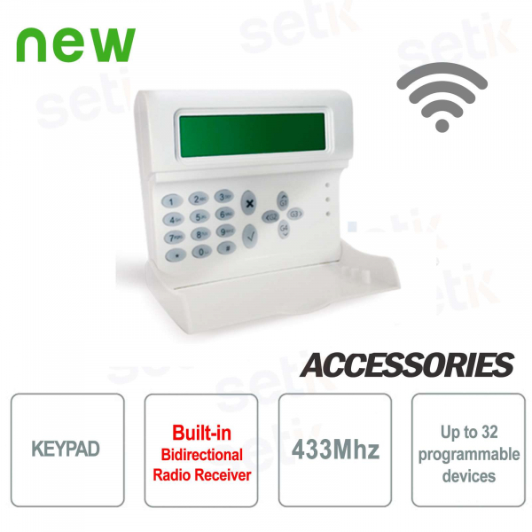 Keyboard with integrated 433 MHz radio receiver - AMC