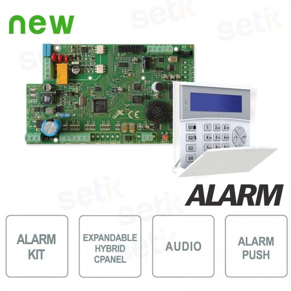 Kit Centrale Allarme 4 ingressi espandibile 16 + Tastiera LCD Blu - AMC