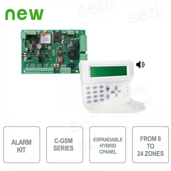 Kit Antifurto AMC C24GSM/PLUS KIT184 Allarme + Tastiera