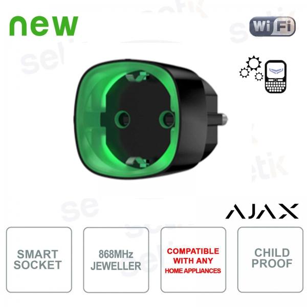 Ajax Socket Presa Wireless Intelligente Controllo Consumo Energetico Black