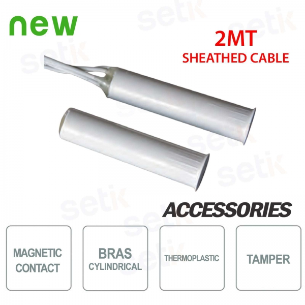 Contatto magnetico CSA Cilindrico in Termoplastico 2M Guaina