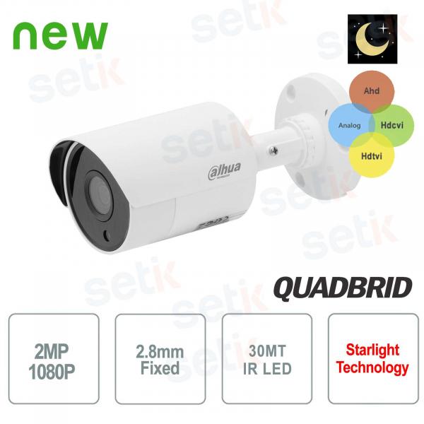 Dahua 2 MP Hybrid 4in1 Video Surveillance Camera 18 IR LEDs 2.8 MM Starlight