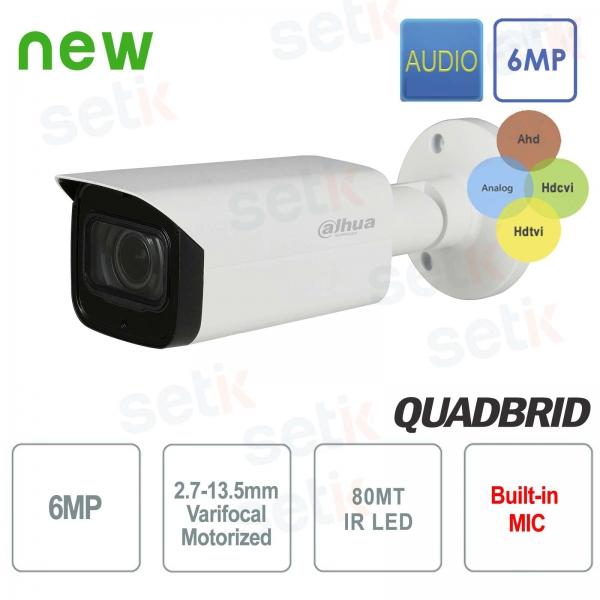 Telecamera Dahua 6MP 4in1 Motorizzata 2,7-13,5 mm Audio IR 80