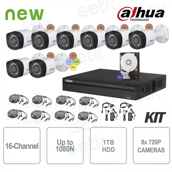 Dahua Surveillance Kit HDCVI DVR 16 Channels 8 Infrared Cameras