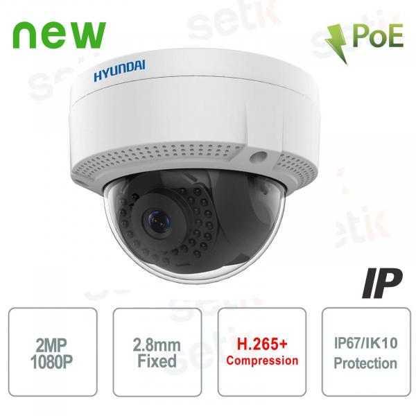 Hyundai 2 MP Dome IR IP camera ONVIF PoE outdoor IK10