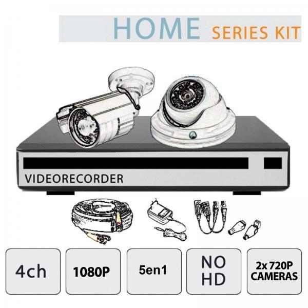 4-Channel 1080P Video Surveillance Kit 2 No Hd Cameras - Home Series - Setik