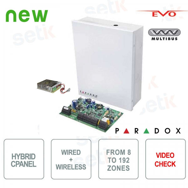 Paradox EVOHD Hybrid 8 Zone Alarm Central Expandable - Video Verification