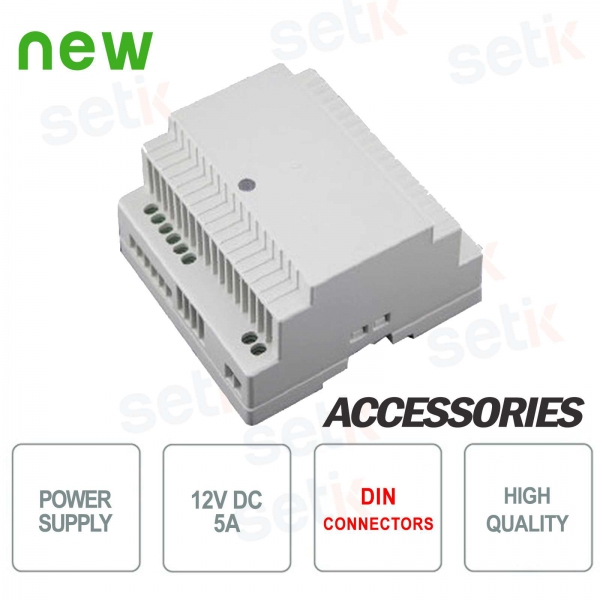 12V 5A power supply DIN Setik connection