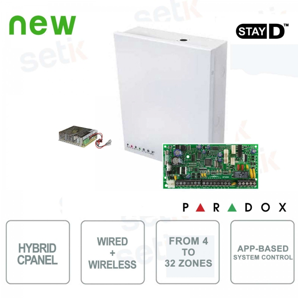 Spectra Centrale Paradox SP4000 Hybrid 4 Zone Expandable Alarm