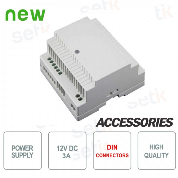 12V 3A power supply DIN Setik connection