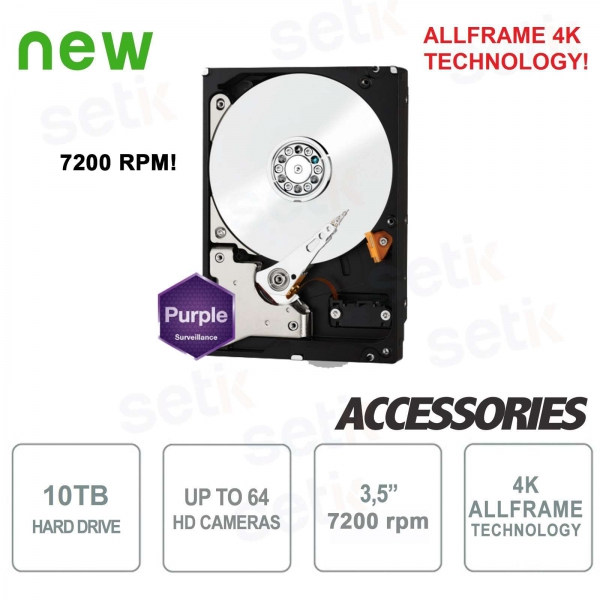 Internal SATA Hard Disk for Western Digital 10TB DVR 7200 rpm