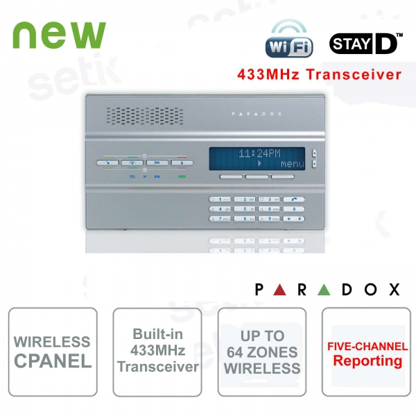 Magellan Central Alarm Paradox MG6250S Wireless 433MHz