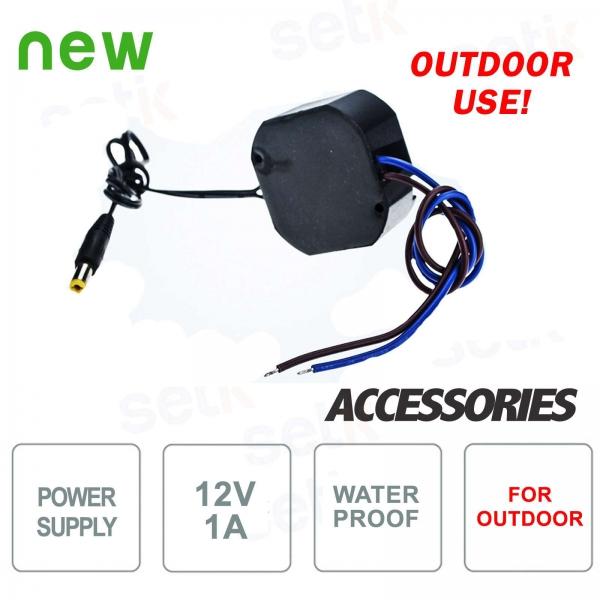 12V 1A power supply for outdoor cameras - Setik