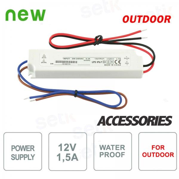 12V 1.5A waterproof outdoor power supply - Setik