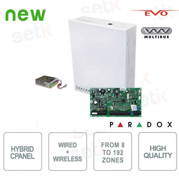 Alarm Control Unit 8 Expandable Hybrid Areas A 192 - Paradox