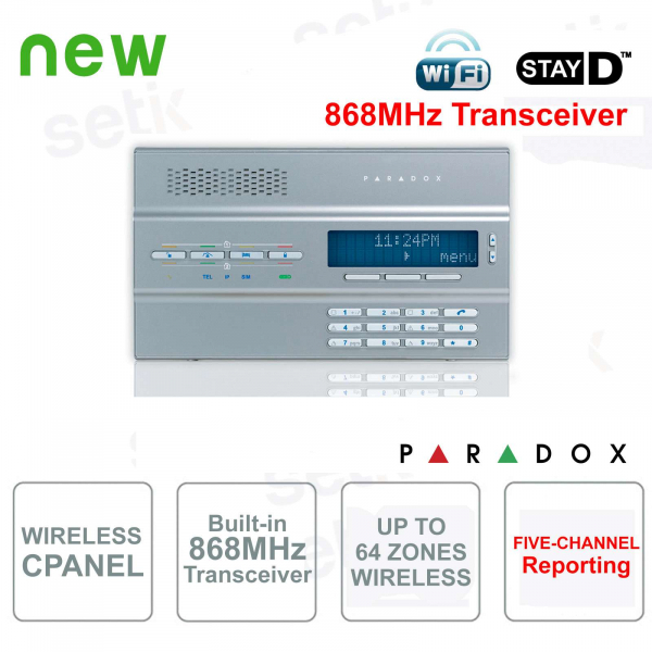 Magellan Central Alarm Paradox MG6250S / 86 Wireless 868MHz