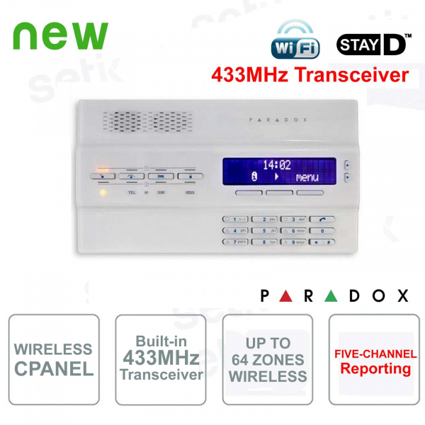 Magellan Central Alarm Paradox MG6250W Wireless 433MHz