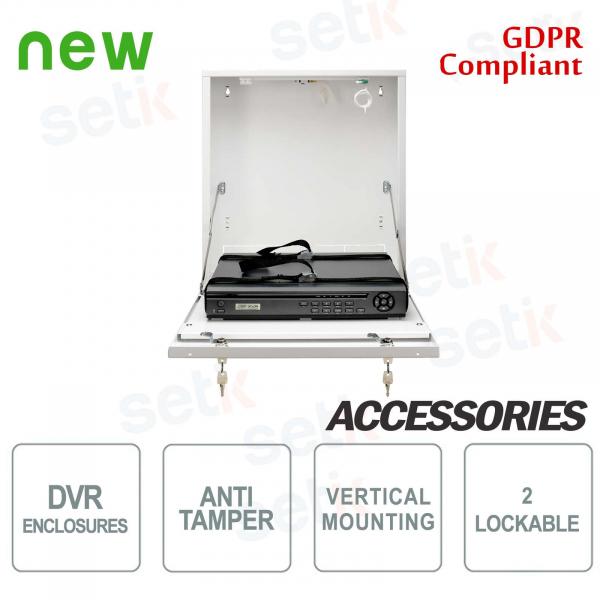 Pulsar contenitore metallico box DVR Tamper - Small Vertical Bianco
