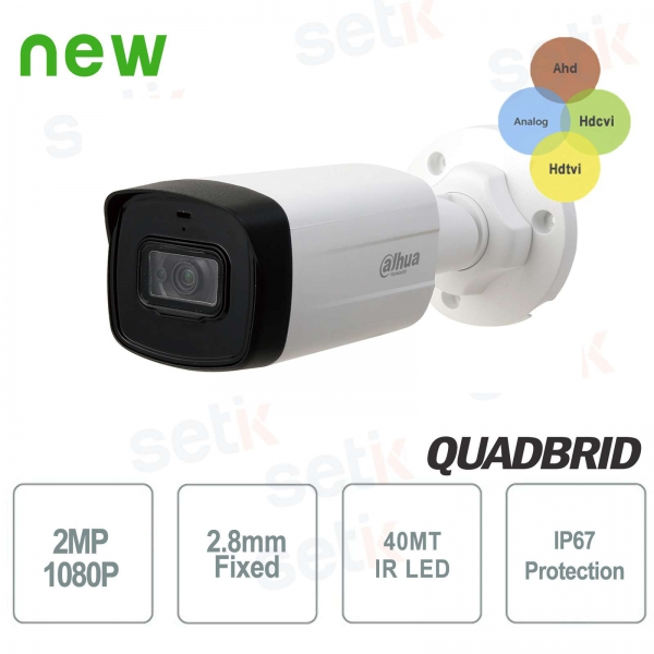 HD CVI 2MP 4in1 2.8mm IR 40M Dahua outdoor camera