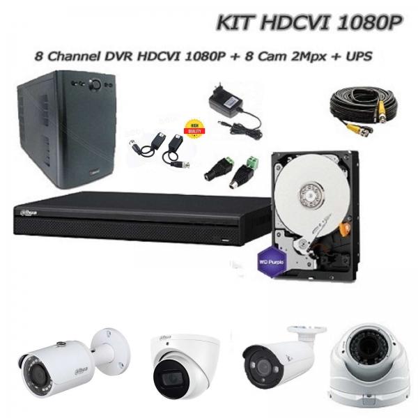Kit Videosorveglianza 8 Canali HD-CVI 2Mpx - DAHUA