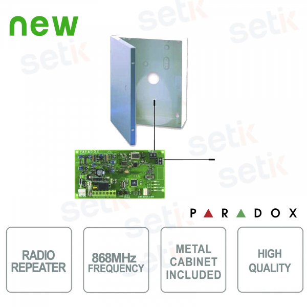 868 MHz Radio repeater for wireless detectors and accessories - Paradox