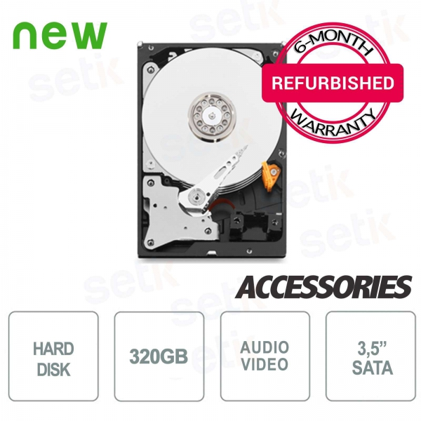 """Hard Disk HD 320GB 3.5 """"- Regenerated with Warranty - High Quality"""