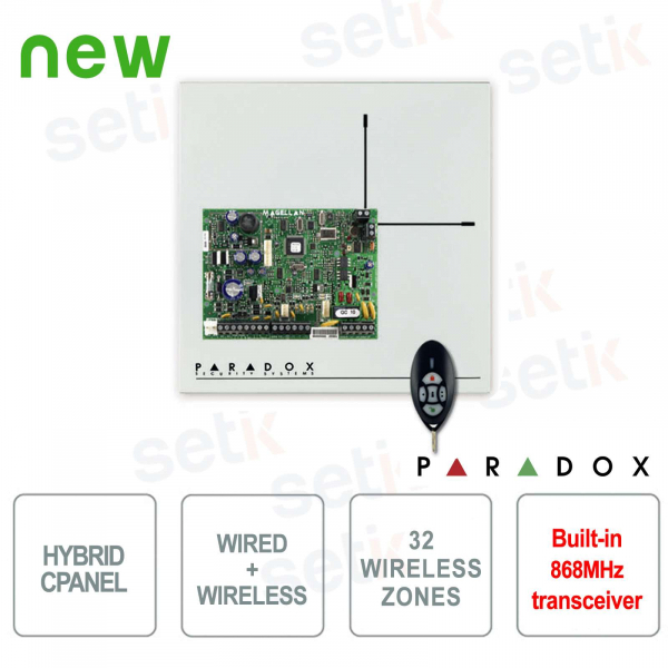 Magellan Centrale Alarm Paradox MG5000 / 86 Wireless 868MHz Cablable Hybrid
